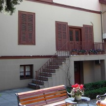 The inner courtyard of the house leads to a small museum.