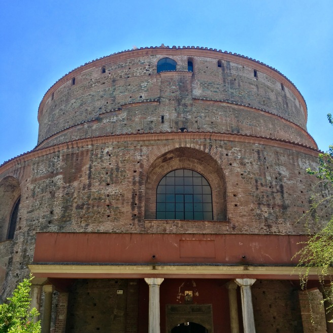 The oddly captivating Rotunda. Built in the 300s AD it is one of the oldest buildings in Thessaloniki.