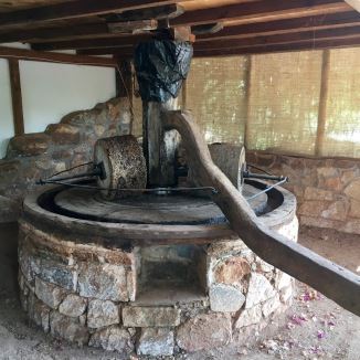 The still functioning olive oil press at the farm.