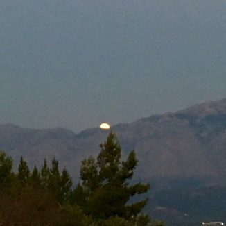 Moon rise was particularly pretty.