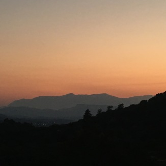 Sunset view over Kastelli valley.