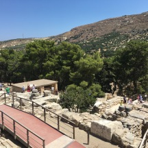A view over the Palace of Knossos.