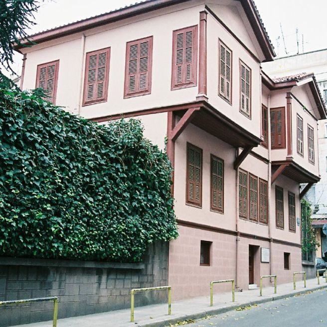The unassuming exterior of Atatürk's birthplace.