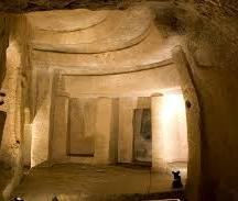 The central hall of the Hypogeum, referred to as the Holy of Holies.