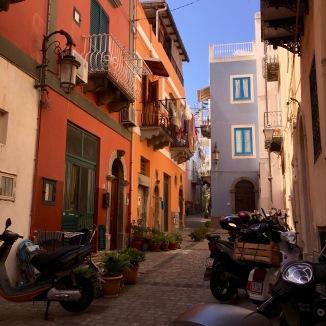The town of Lipari - it's cute.