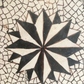 A fabulous 1700's floor tile.