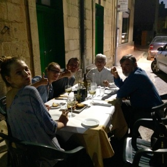 Our authentic Maltese dinner. A treat!