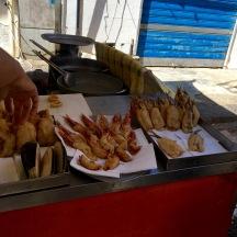 Fried fish goodies.