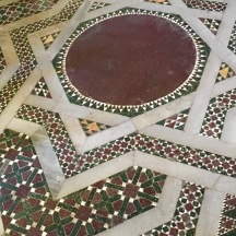 A Moroccan style floor in one of the Arab-Norman churches.