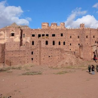 The Kasbah Telouet. The inside was very well preserved and the history is quite interesting.