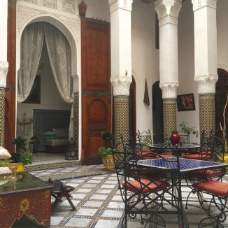 The courtyard of our Riad. So lovely.