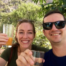 After so much exploring we needed found some orange juice. (what you don't see is that there was an ostrich next to us... I'm serious)
