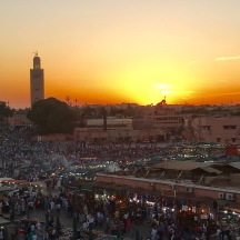 Sunset over Marrakech.