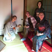 These sweet ladies put on a tea ceremony during the festival.